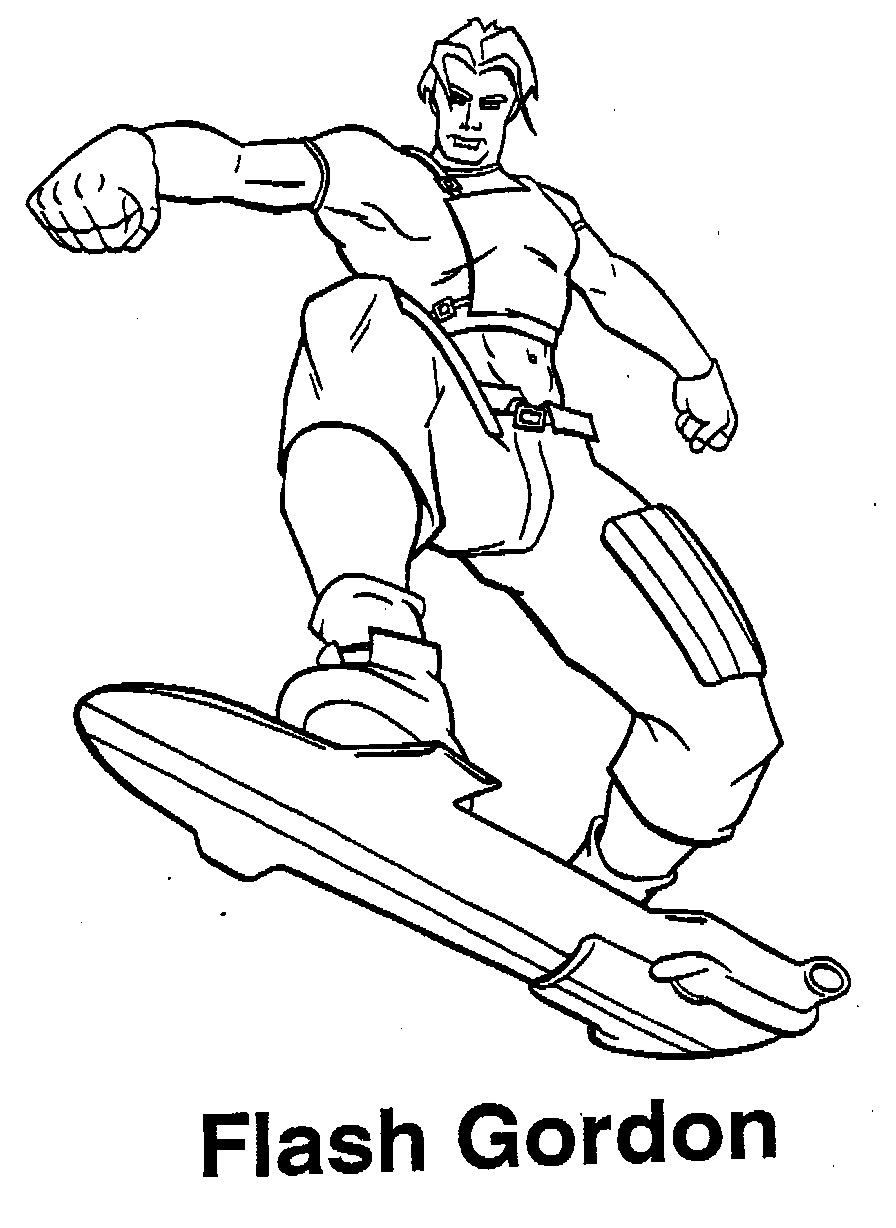 flash gordon coloring pages flas free colouring pages