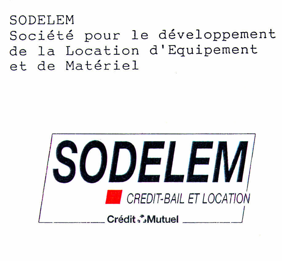 trademark information for sodelem credit bail et location credit mutuel from ctm by markify. Black Bedroom Furniture Sets. Home Design Ideas